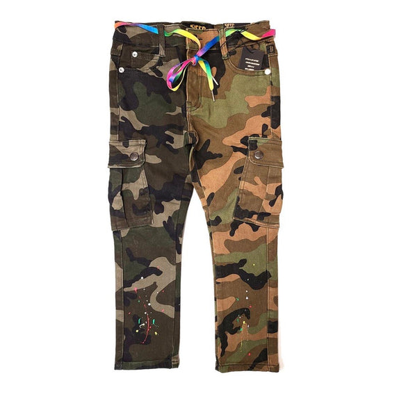 Kleep Kid's Two Tone Camo Jeans