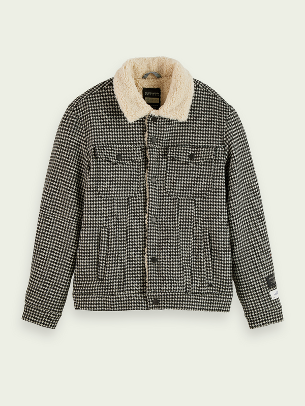 Wool Blend Sherpa Trucker Jacket