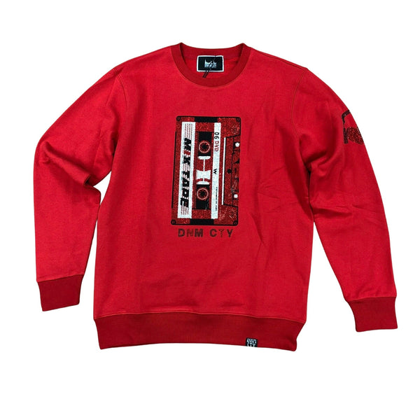 Denim City Cassette Stone Sweater (Red)