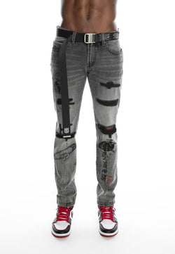 Cult Of Individuality Acid Belted Skinny