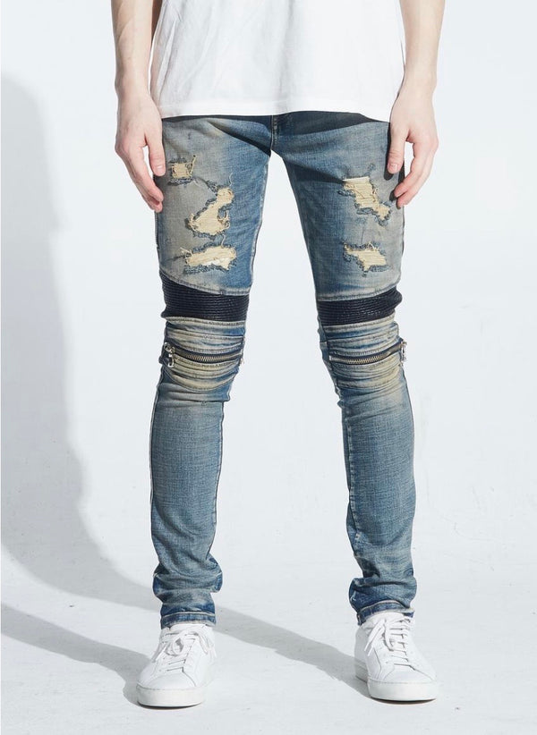 Embellish NYC Sunny Distressed Biker Denim