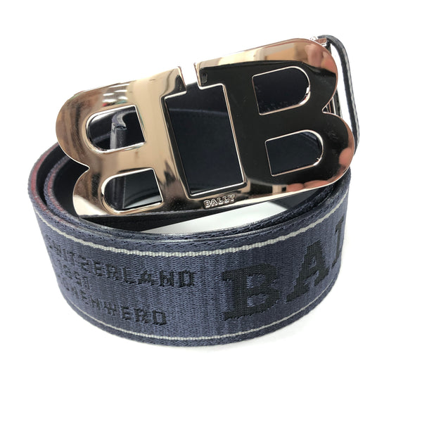 Bally Mirror B Belt-Navy