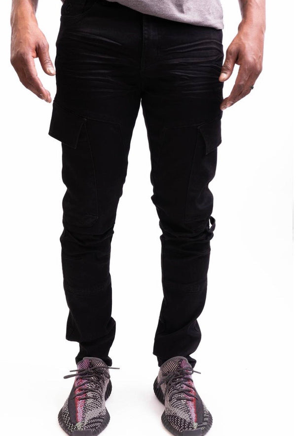 Caliber Flight Cargo Denim (Jet Black)