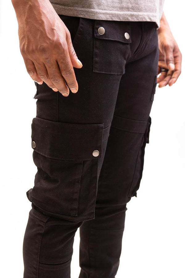 Caliber Shell Back Denim (All Black)