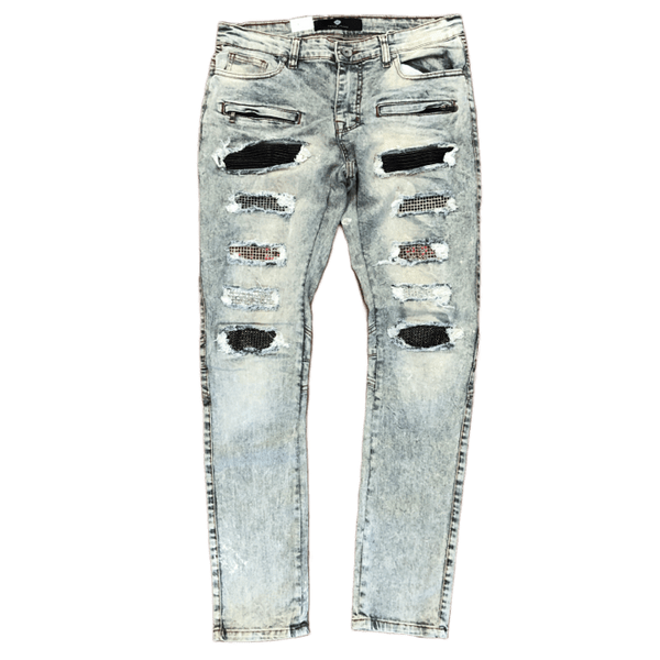 Focus Multi Patch Jeans (Vintage)