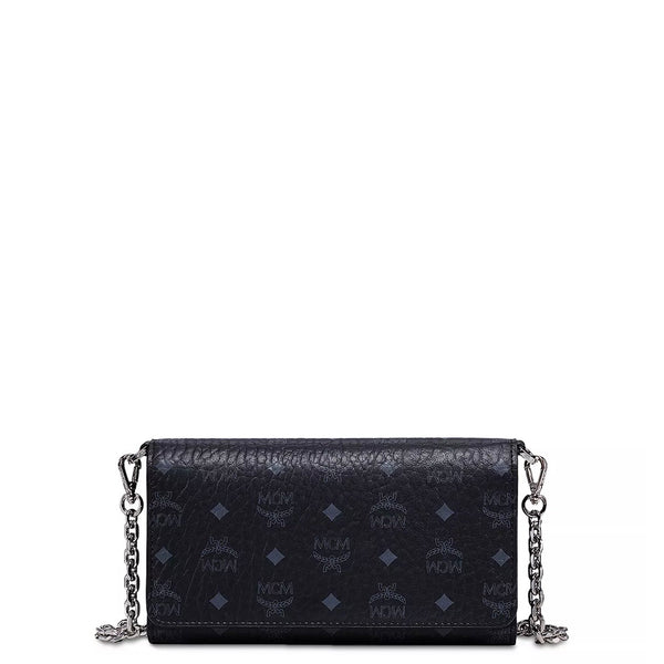 MCM Crossbody Phone Wallet (Black)