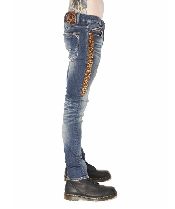 Cult Of Individuality Cheetah Skinny Stretch