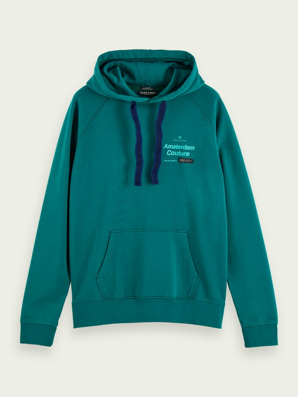 Scotch & Soda-Cotton Hoodie (Glacier Green)