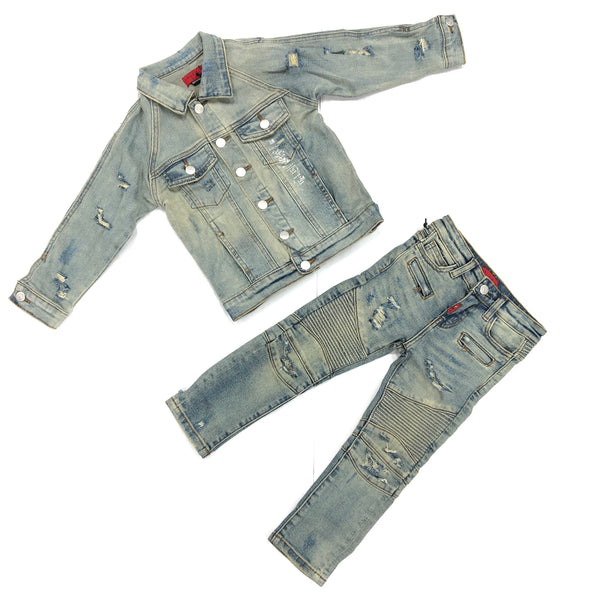 Haus Of Jr Kids Xavier Denim Set