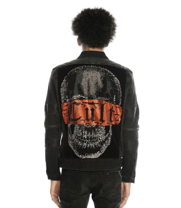 Cult Of Individuality Onyx Moto Denim Jacket