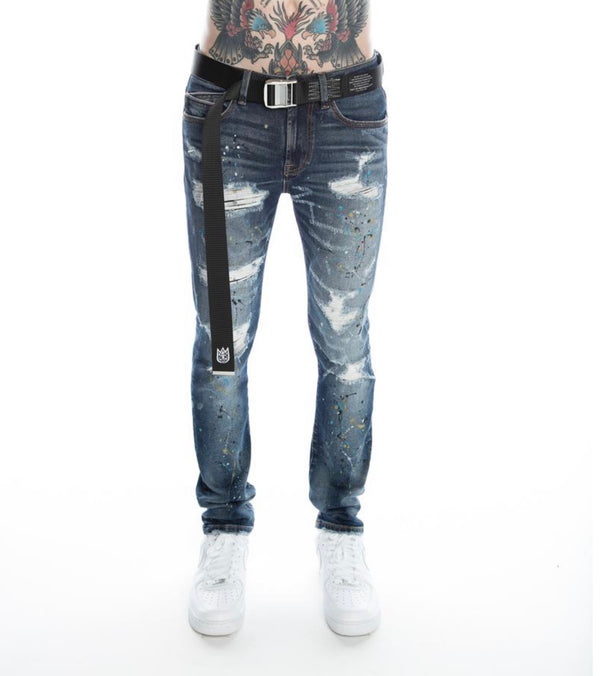 Cult Of Individuality Drip Skinny Stretch Denim