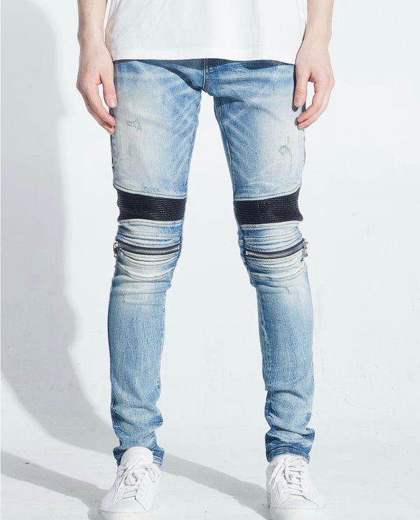 Embellish NYC Sunny Light Biker Denim