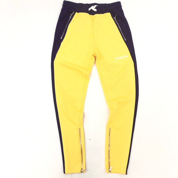 Karter Purple/Yellow Roosevelt Track Pants