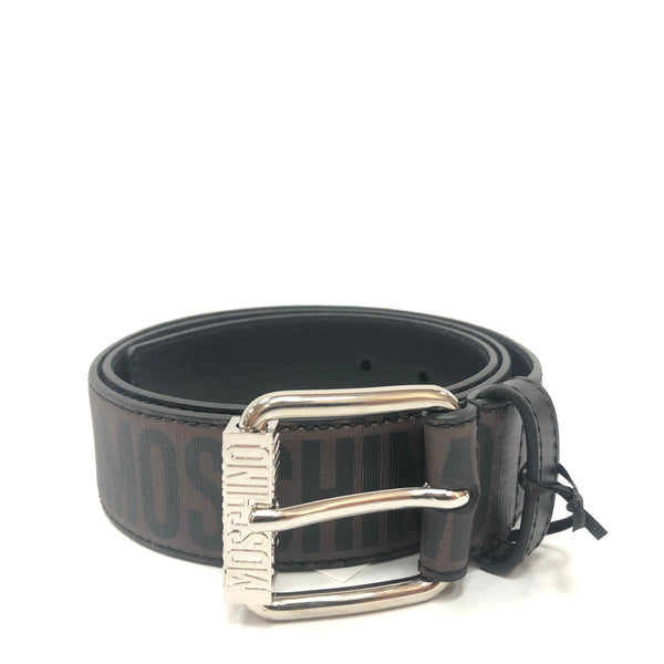 Moschino Couture Jacquard Logo Belt