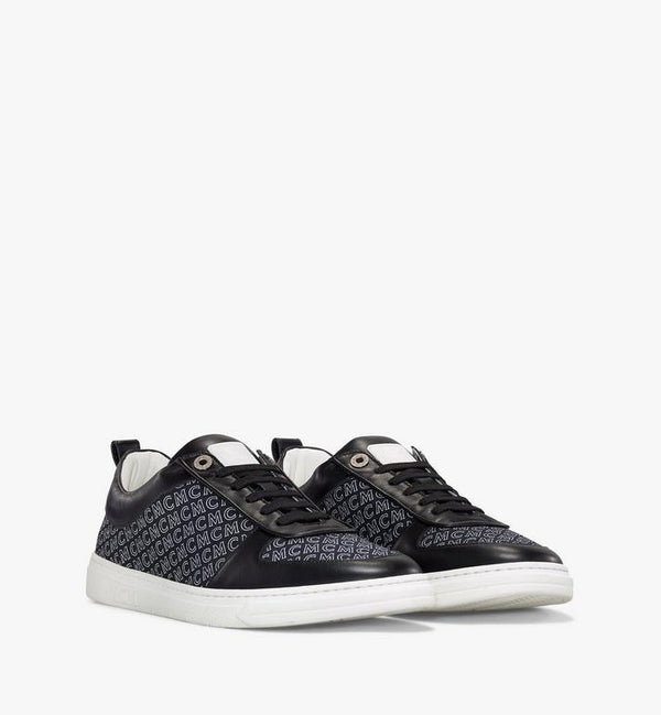 MCM-Men's New Court Diagonal Logo Sneaker (Black)