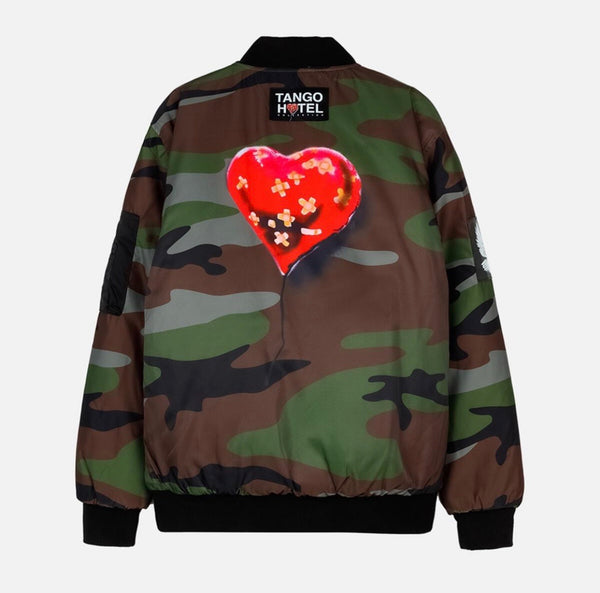 Tango Hotel Bandaged Heart Reversible Jacket