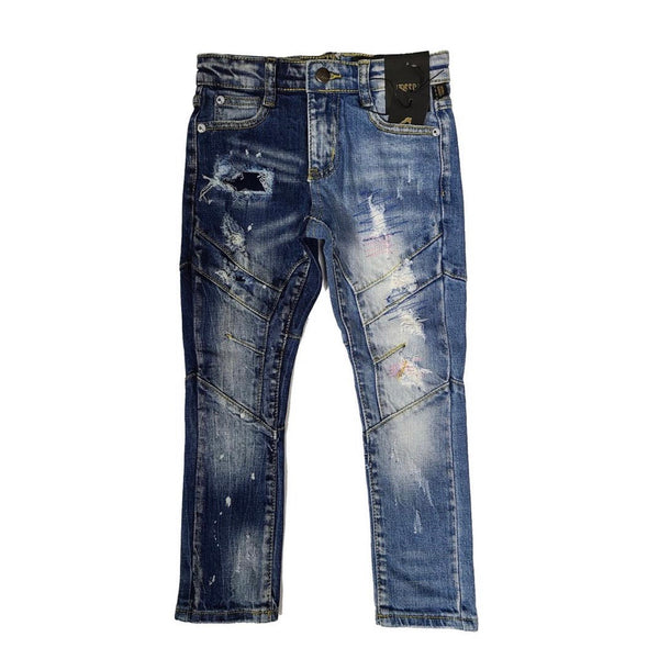 Kleep Kid's Two Tone Blue Jeans