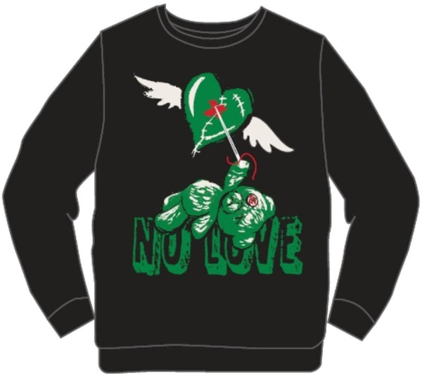 Retro Label-Pine Green 1's No Love Sweater