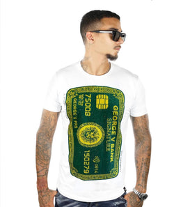 George V-Card Tee (Green/Yellow)