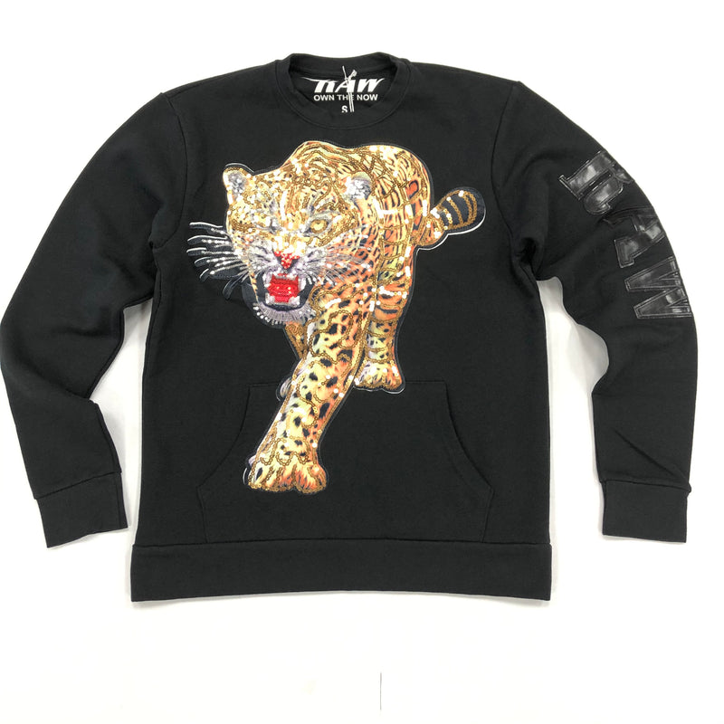 Raw-Tiger Crewneck (Black)