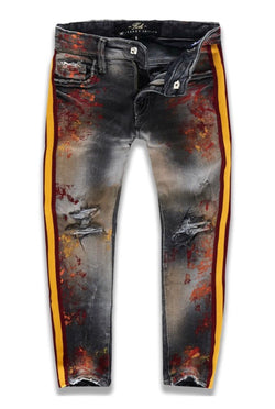 Jordan Craig Kids Striped Jeans (Fire City)