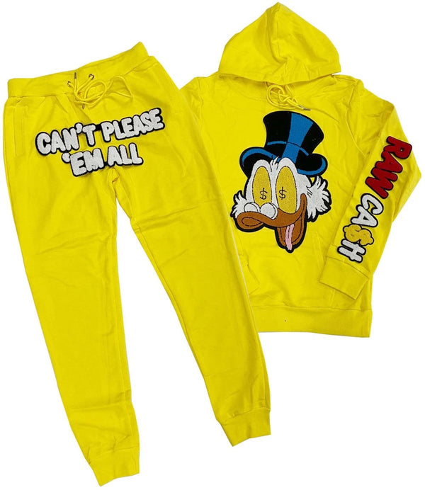 Raw Cash Jogging Set (Yellow)