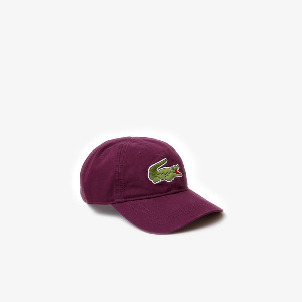 Lacoste Men's Big Croc Gabardine Cap (Bordeaux)