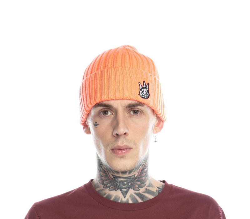 Cult Shimuchan Logo Knit Hat (Coral)