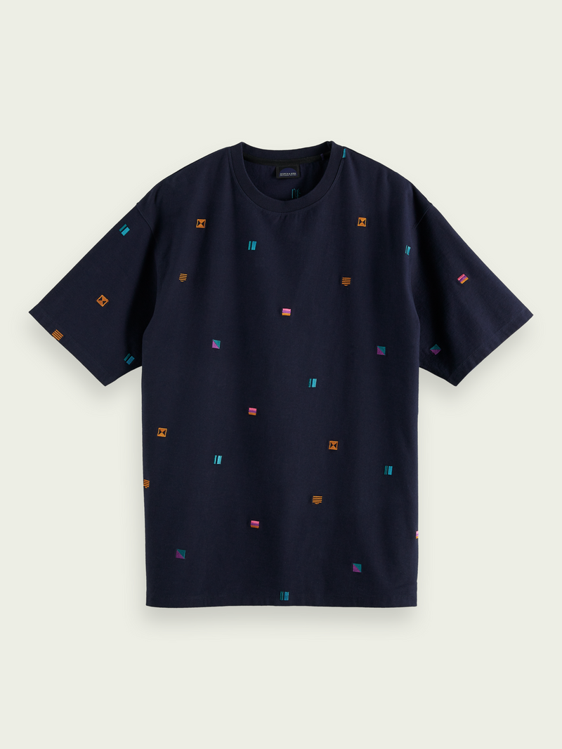 Raw Tee (Navy/Yellow)