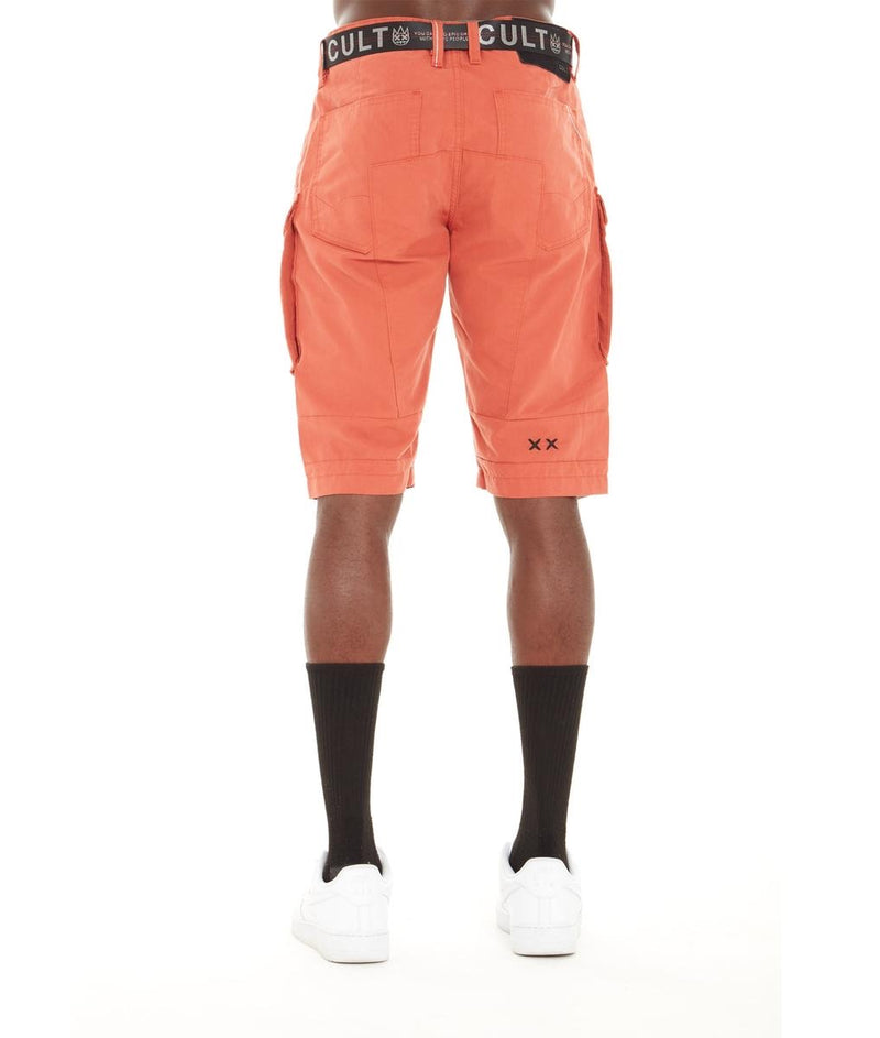 Cult Of Individuality Rocker Cargo Shorts (Rust)