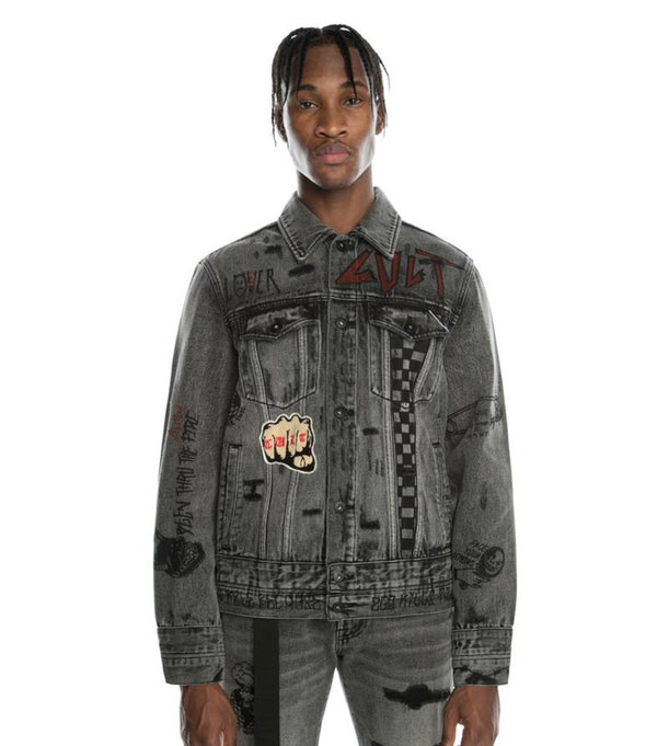 Cult Of Individuality Type IV Acid Denim Jacket