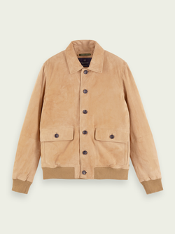 Scotch & Soda-Pure Suede Bomber Jacket