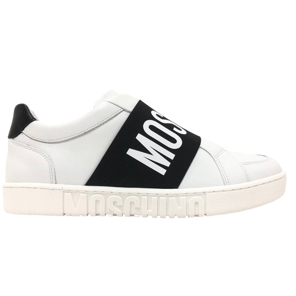 Calfskin Sneaker With Strap (White)