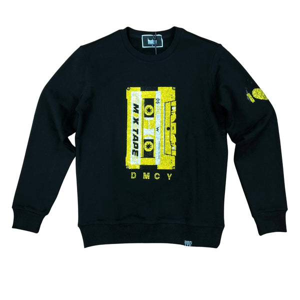 Denim City Cassette Stone Sweater (Black)