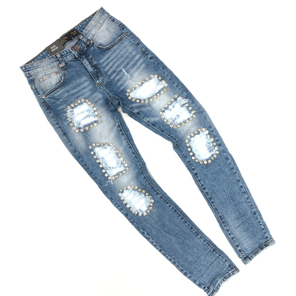 Majestik Silver Crystal Denim