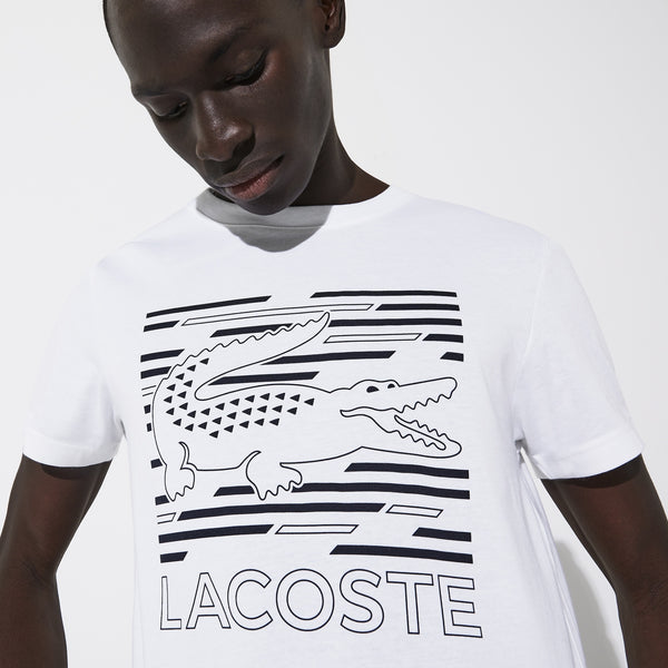 Lacoste Gator Graphic Tee (White/Navy)