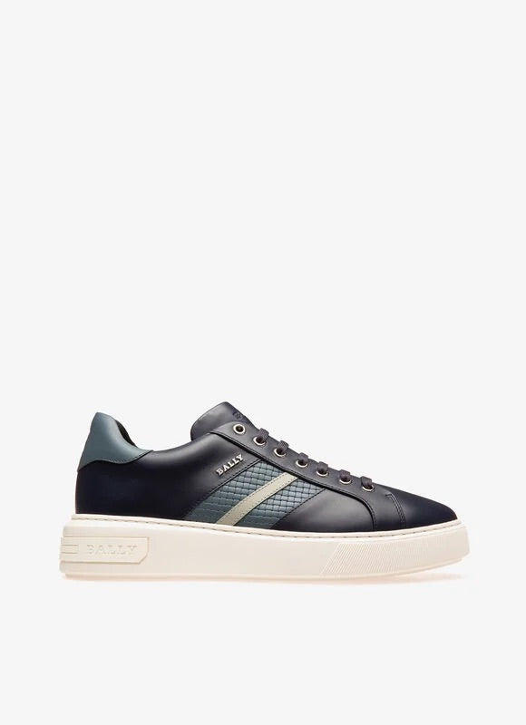 Bally Marcus Sneaker In Navy Leather