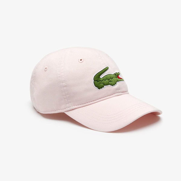 Lacoste Men's Big Croc Gabardine Cap (Flamingo)