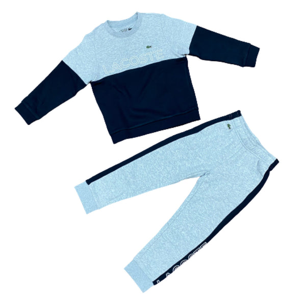 Lacoste Kids Two Tone Sweater Set (Navy/Grey)