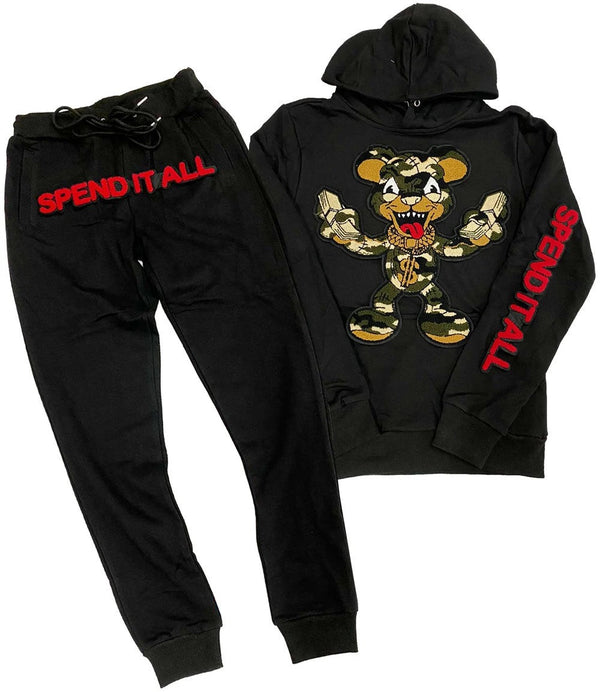 Spend It All Jogging Set (Black)