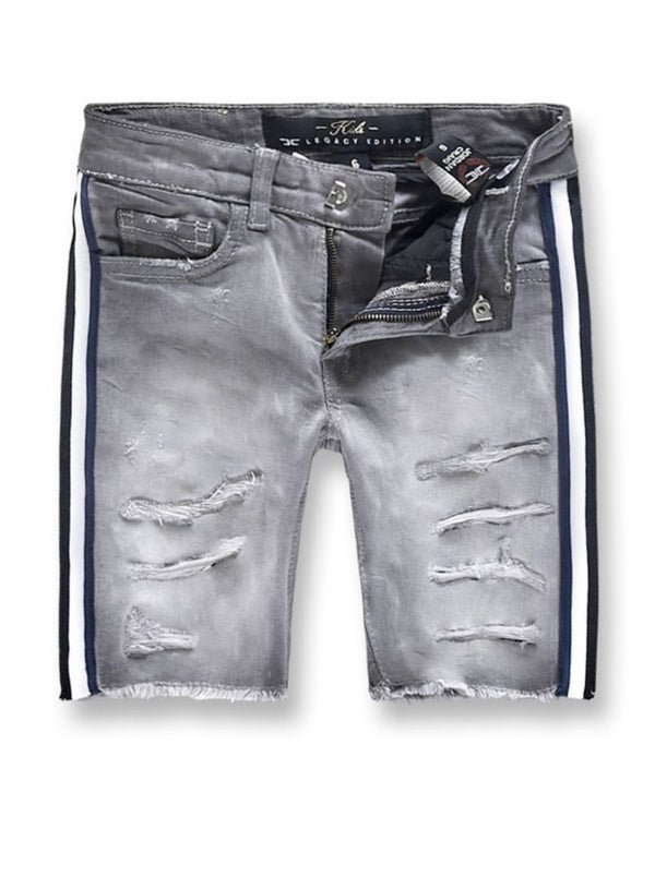 Jordan Craig Kids Striped Shorts (Light Grey)
