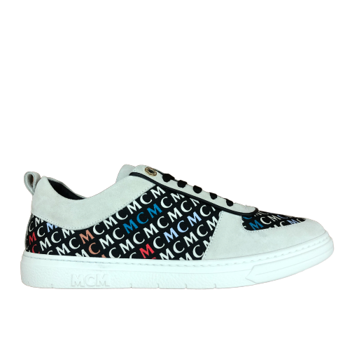 MCM-Men's New Court Diagonal Logo Sneaker