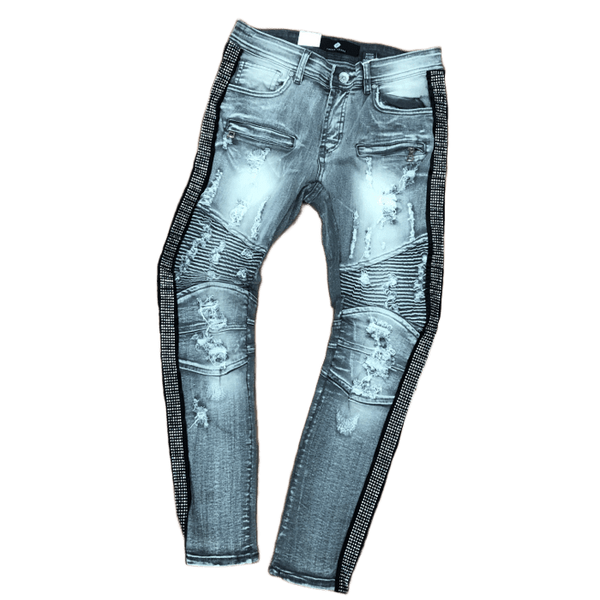 Focus Silver Crystal Jeans