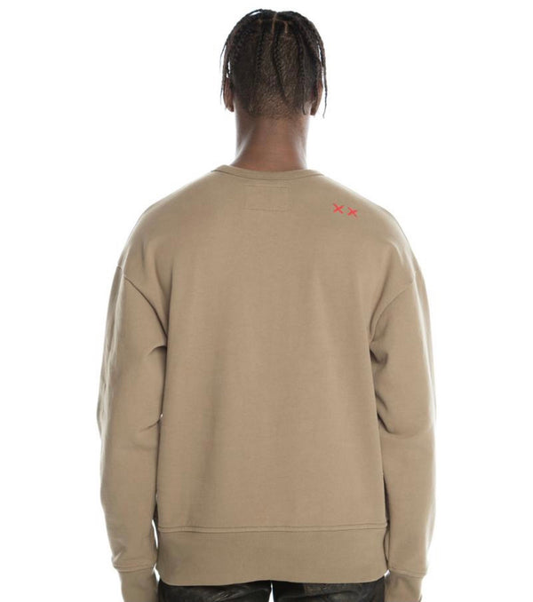 Cult Of Individuality Taupe Crewneck