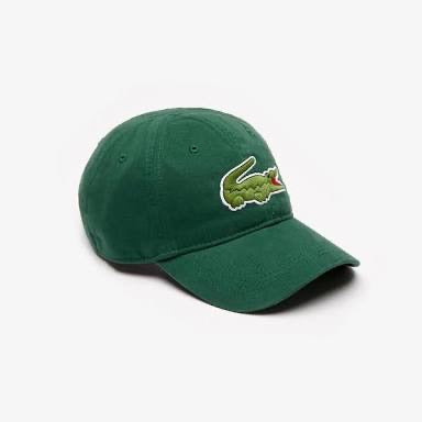 Lacoste Men's Big Croc Gabardine Cap (Green)