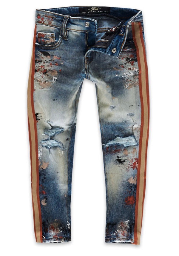 Jordan Craig Kids Striped Jeans (Summer Storm)
