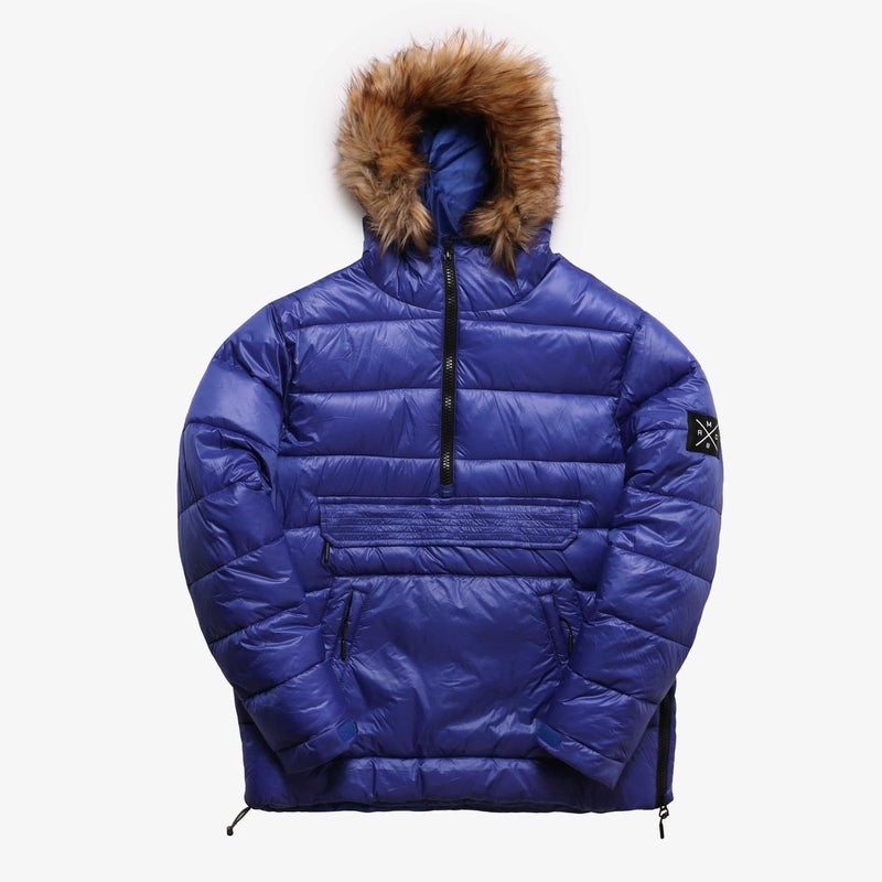 Nylon Puffer Anorak Pull Over (Royal)