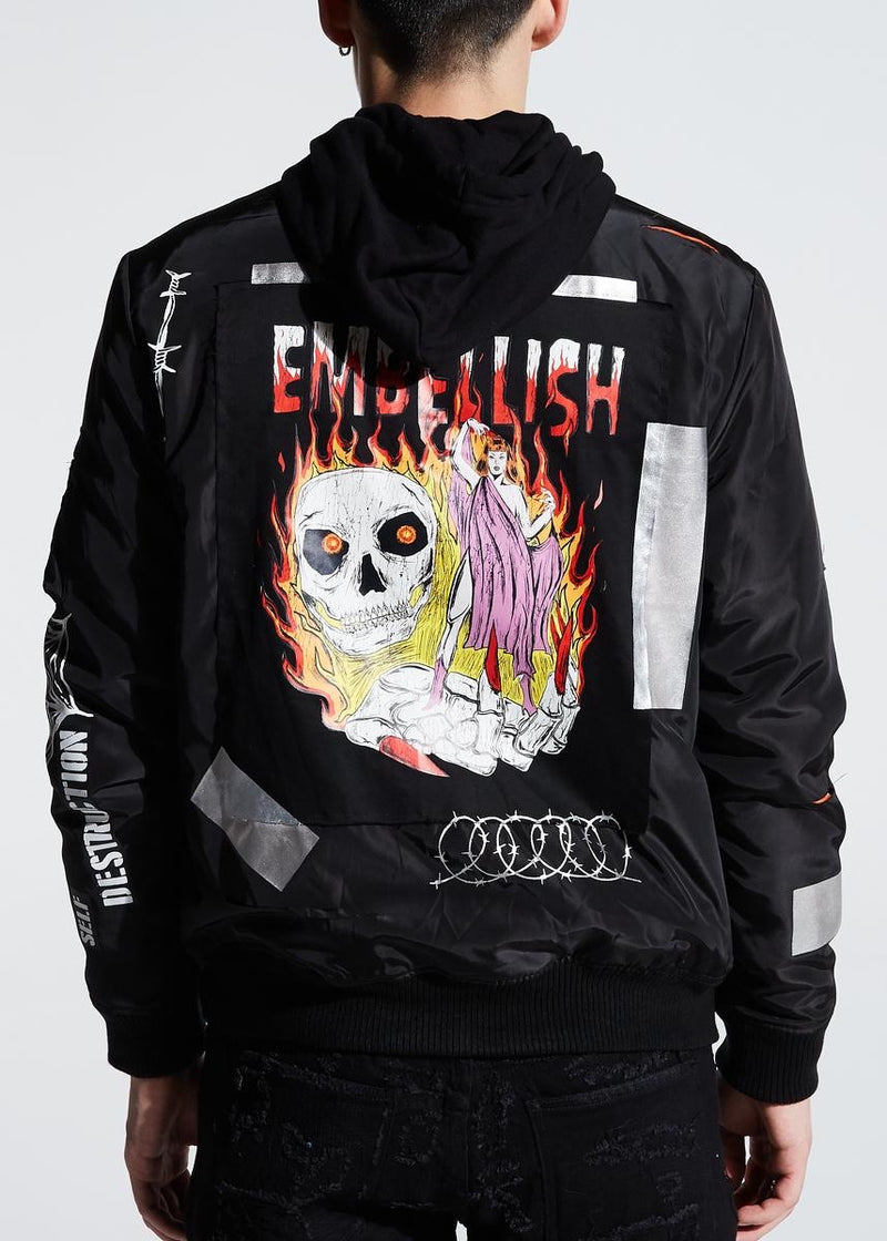 Embellish NYC Johnson Hooded Bomber