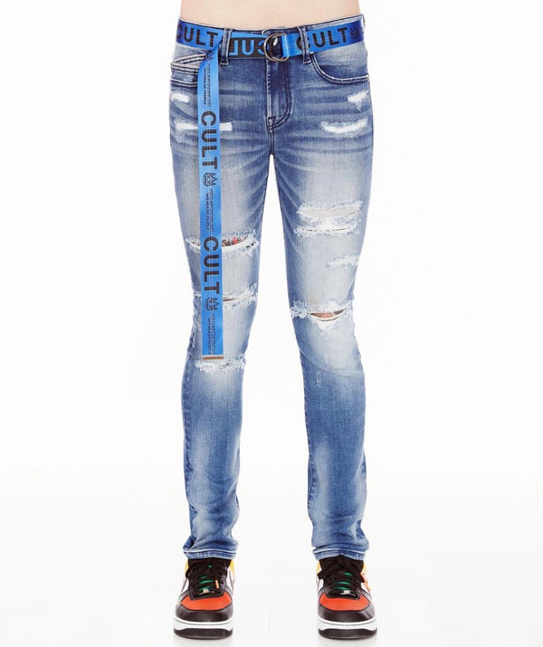 Cult Of Individuality Rinker Skinny Stretch Denim (Blue)