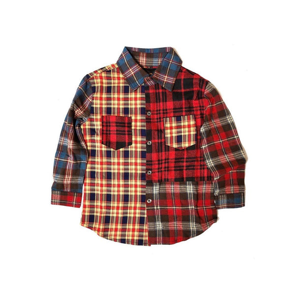 Kleep Kid's Mixed Flannel Shirt